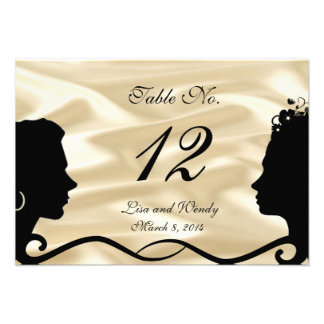 Lovely Brides Custom RSVP Cards With Numbers