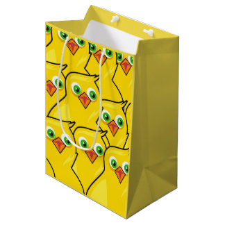 Lovely Bright Yellow Easter Chickens Medium Gift Bag