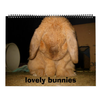 lovely bunnies wall calendars