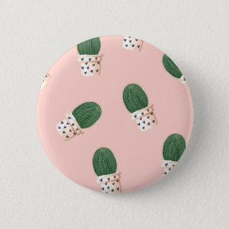 Lovely Cactus 6 Cm Round Badge