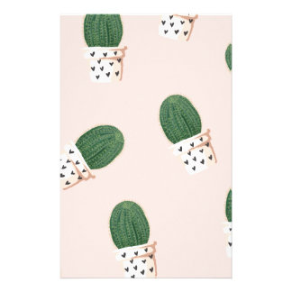 Lovely Cactus Stationery Paper