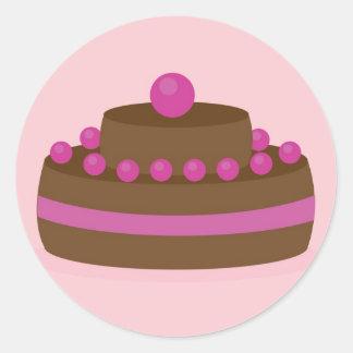 Lovely cake round sticker