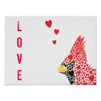 Lovely Cardinal Poster