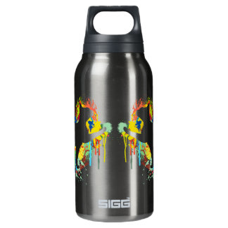 Lovely Cat Colorful Painting Splash Insulated Water Bottle