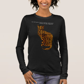Lovely cat leopard - quote from Haliburton, meow Long Sleeve T-Shirt