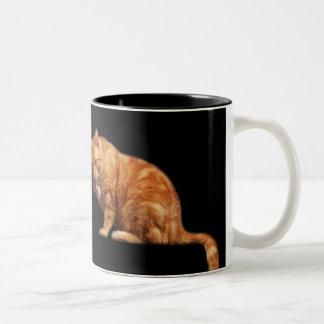 Lovely Cat Two-Tone Coffee Mug