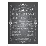 Lovely Chalkboard Couples Wedding Shower Custom Invitation