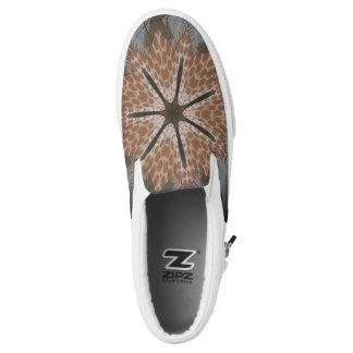 Lovely Cheetah African Animal Print pattern design Slip On Shoes