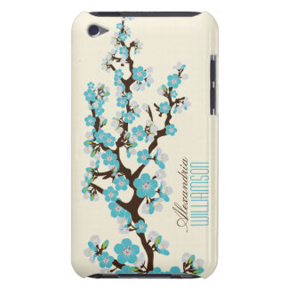 Lovely Cherry Blossoms (aqua) iPod Touch Case