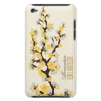 Lovely Cherry Blossoms (lemon) Barely There iPod Covers
