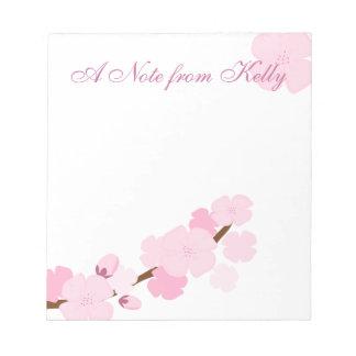 Lovely Cherry Branch Notepad
