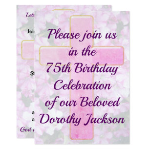 Christian birthday invitations announcements zazzle lovely christian 75th birthday invitation filmwisefo Image collections