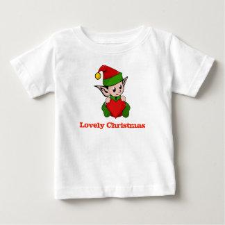 Lovely Christmas Elf Heart Baby Shirt