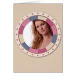 lovely Circle frame - 'Beige Rose' on beige Cards