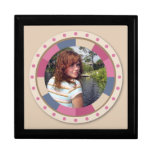 lovely Circle frame - 'Beige Rose' on beige Jewelry Boxes