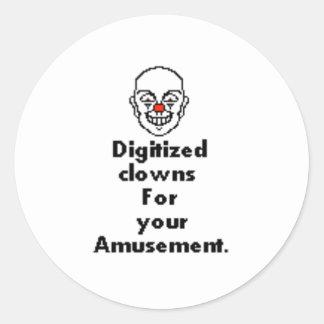 Lovely clown sticker