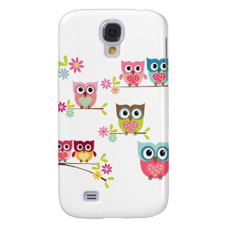Lovely Colorful Owls for Samsung Galaxy S4 Case