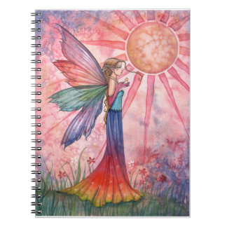 Lovely Colorful Rainbow Fairy Notebook Journal