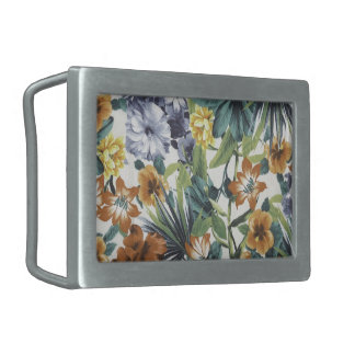 Lovely Colors Floral Belt Buckle