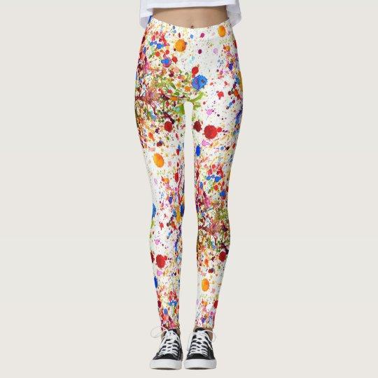Lovely colourful happy art Leggings