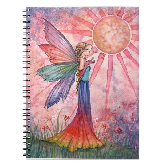 Lovely Colourful Rainbow Fairy Notebook Journal