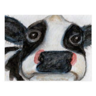 Lovely Cow watercolour birthday thankyou Postcard