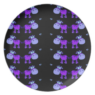Lovely Cows Blue (C) Party Plates