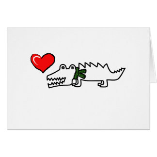 Lovely Crocodile Card