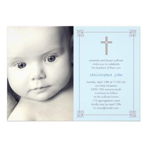 Lovely Cross Photo Baptism/Christening Invitation Invites