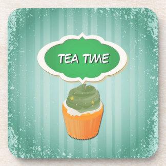 Lovely Cupcake & Tea Time:Pink Take a break Coaster