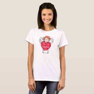Lovely Cupid's Be My Valentine Throw Pillow T-Shirt