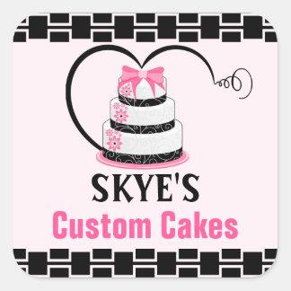Lovely Custom Cakes Bakery Square Sticker