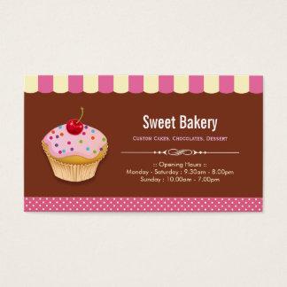 Lovely Custom Cupcakes  - Sweet Bakery Shop Business Card