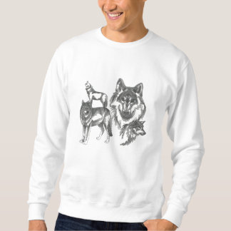 Lovely Customizable Embroidered Wolf Tees Sweatshirts