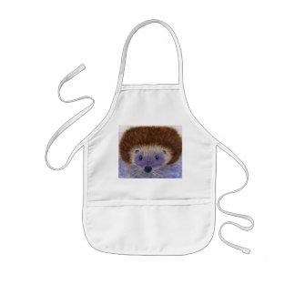 Lovely Cute Hedgehog kids apron daughter son