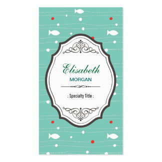 Lovely Cute Swimming Fish Aqua Aquarium Bubble Pack Of Standard Business Cards