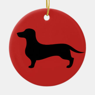 Lovely dachshund silhouette Christmas ornament