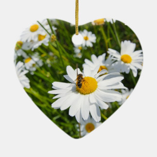 Lovely daisies and a bee christmas ornament