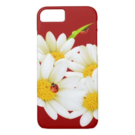 Lovely Daisies and Ladybugs iPhone 7 case