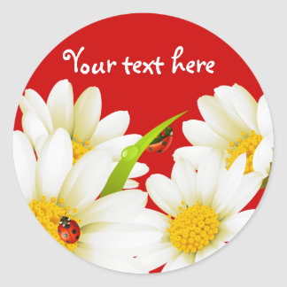 Lovely Daisies and Ladybugs Stickers