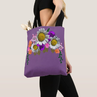 Lovely Daisy Floral Arrangement Double Sided Tote Bag
