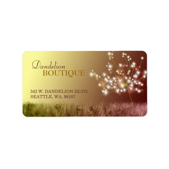 Lovely Dandelion Business Marketing Address Label