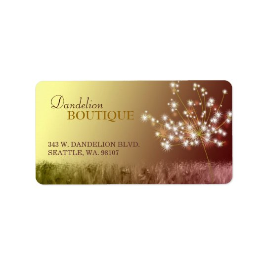 Lovely Dandelion Business Marketing Label