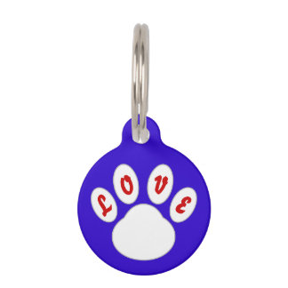 Lovely Dog Tag Paw Design (Blue) *Customizable*