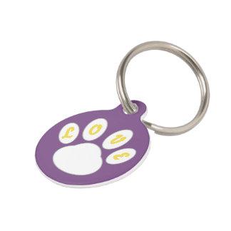 Lovely Dog Tag Paw design (Purple) *Customizable*