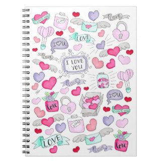 Lovely doodle spiral notebook