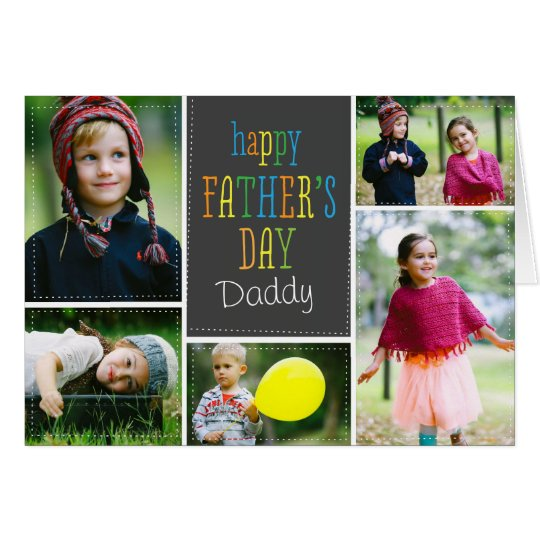 Lovely Dots Father's Day Photo Card