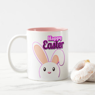 Lovely Easter Bunny 2 Two-Tone Coffee Mug