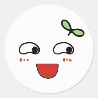 Lovely emoji classic round sticker