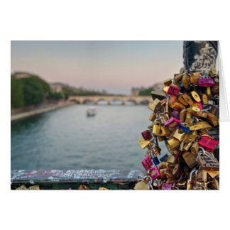 Lovely Evening Sky in Paris Greeting Card